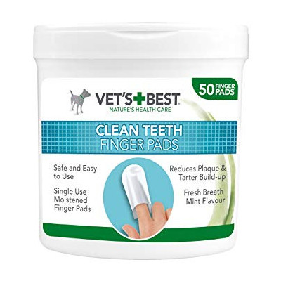 VET'S BEST TEETH CLEANING FINGER PADS FOR DOGS
